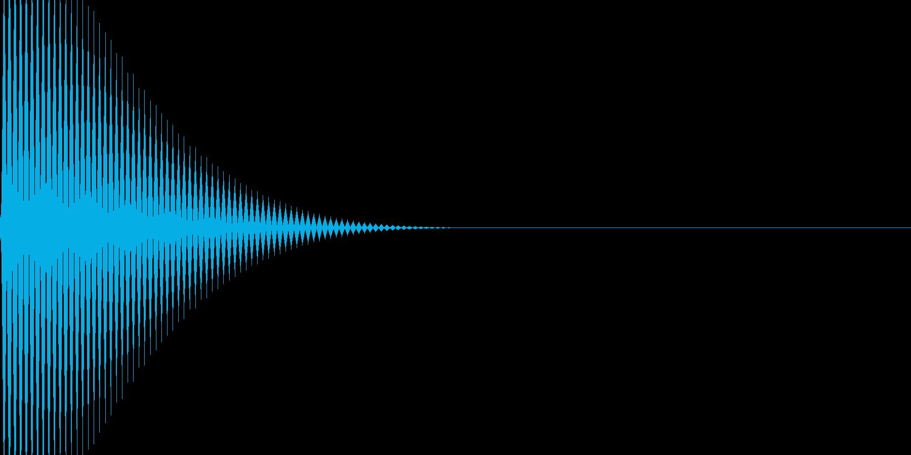ボタン・カーソル・操作音 「ピーン」の再生済みの波形