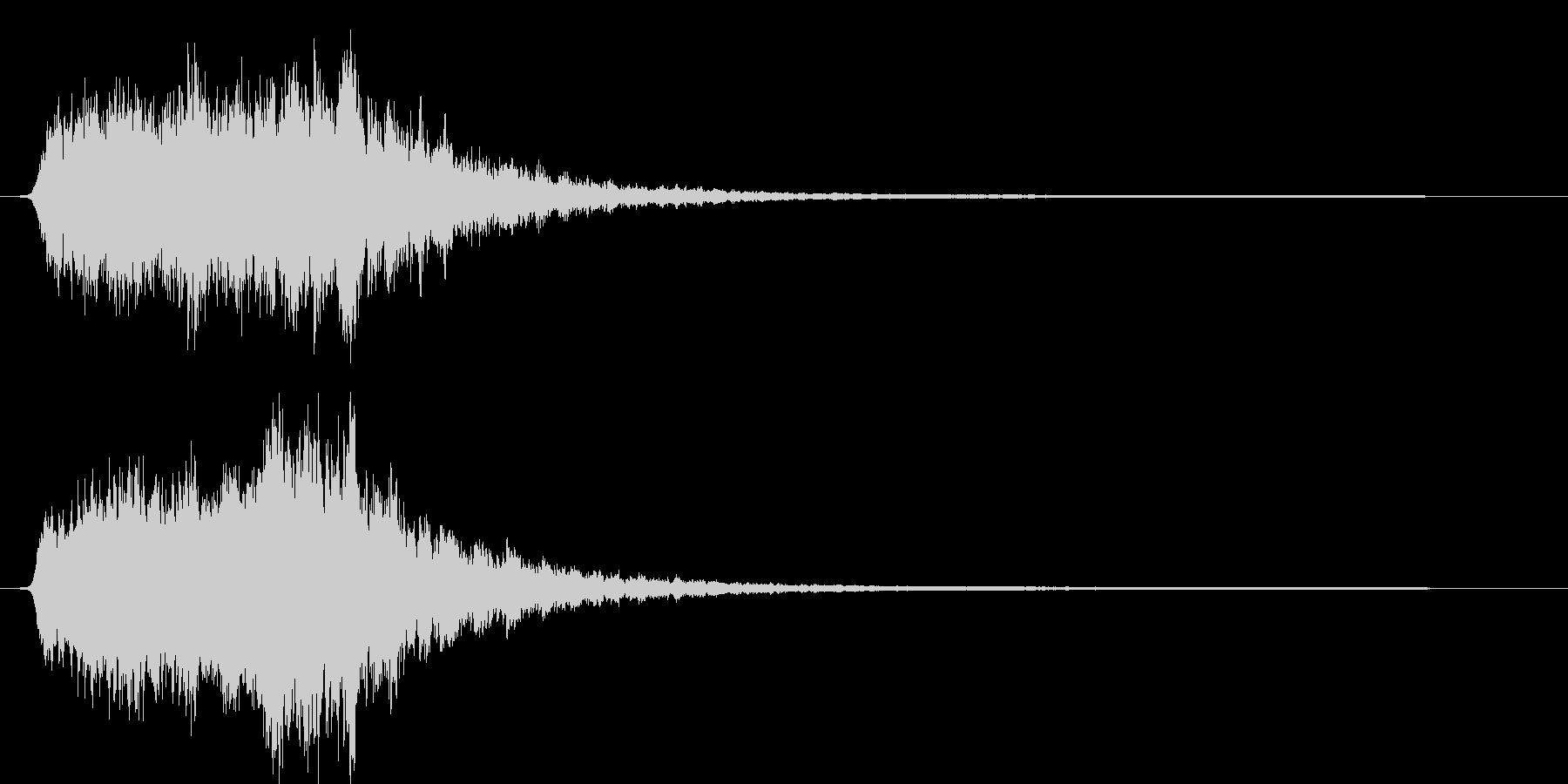ギュゥゥ。恐怖・悪寒の音D(低・下降)の未再生の波形