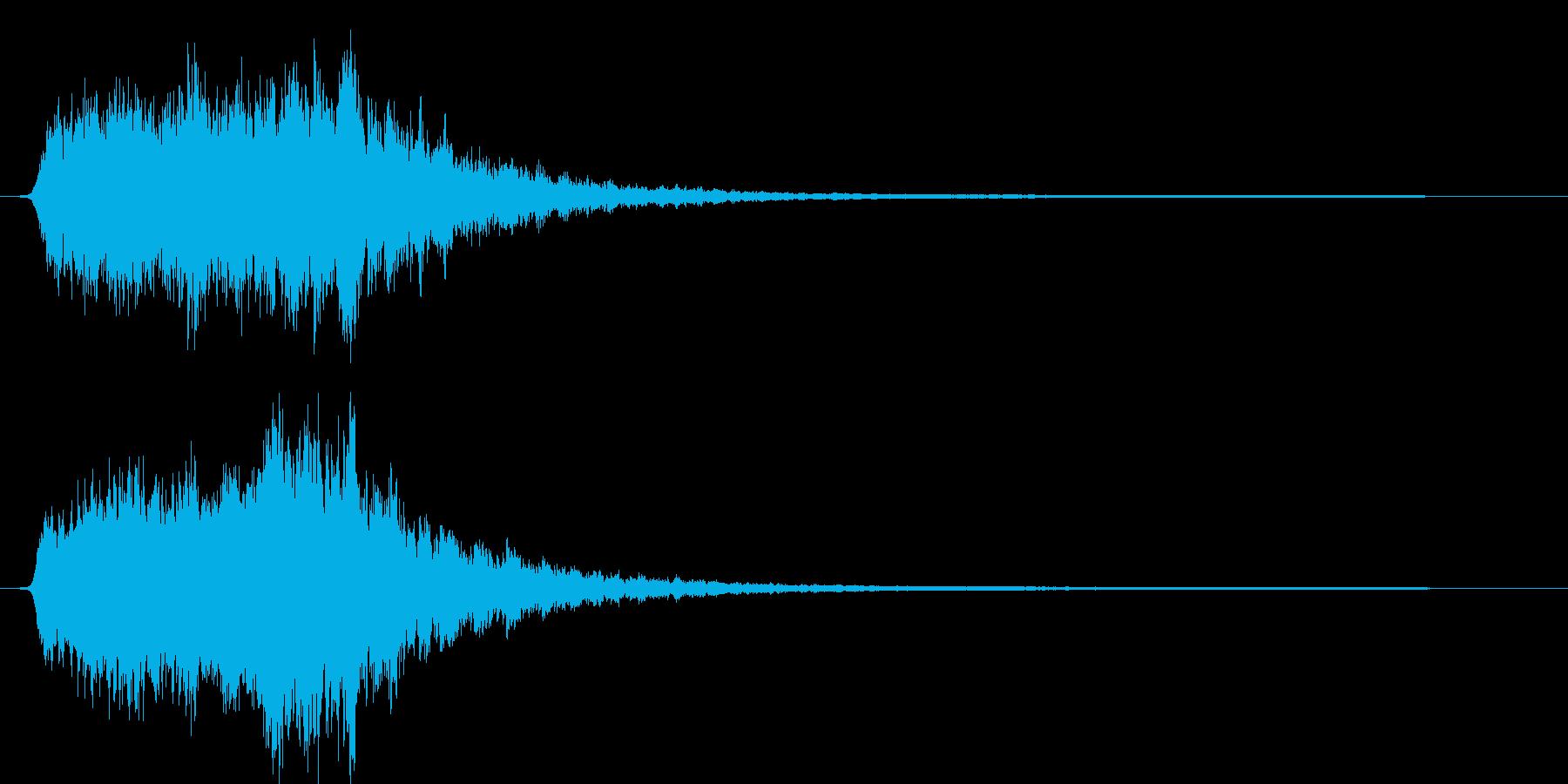 ギュゥゥ。恐怖・悪寒の音D(低・下降)の再生済みの波形