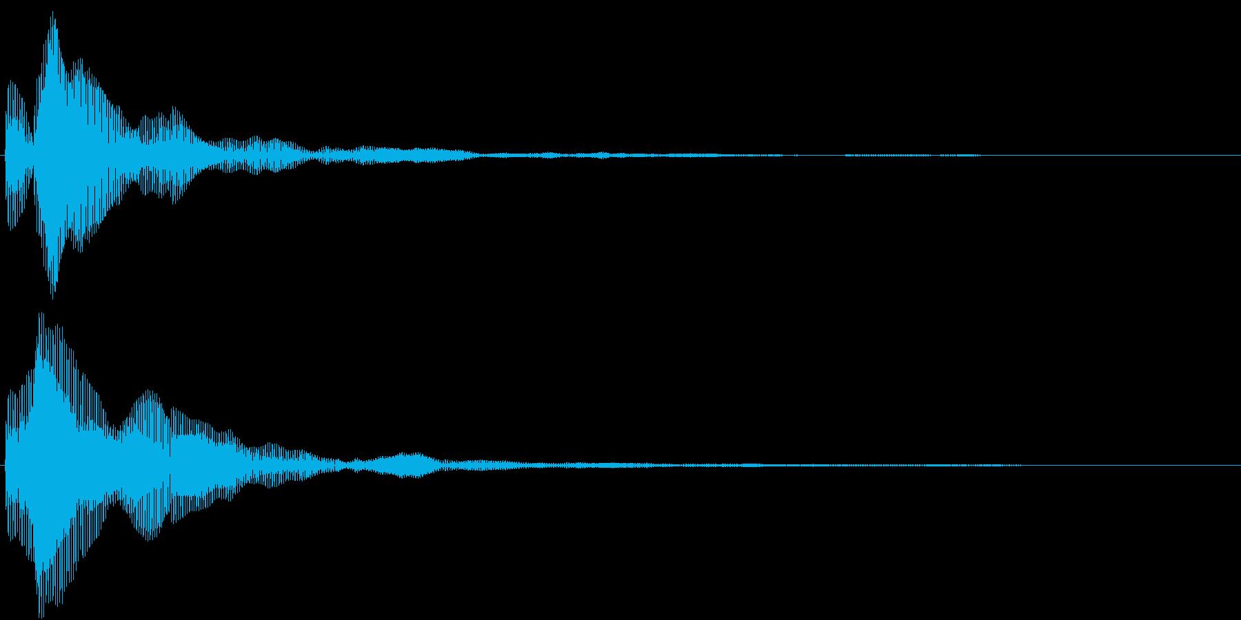ピッというメニュー画面などで選択する音の再生済みの波形