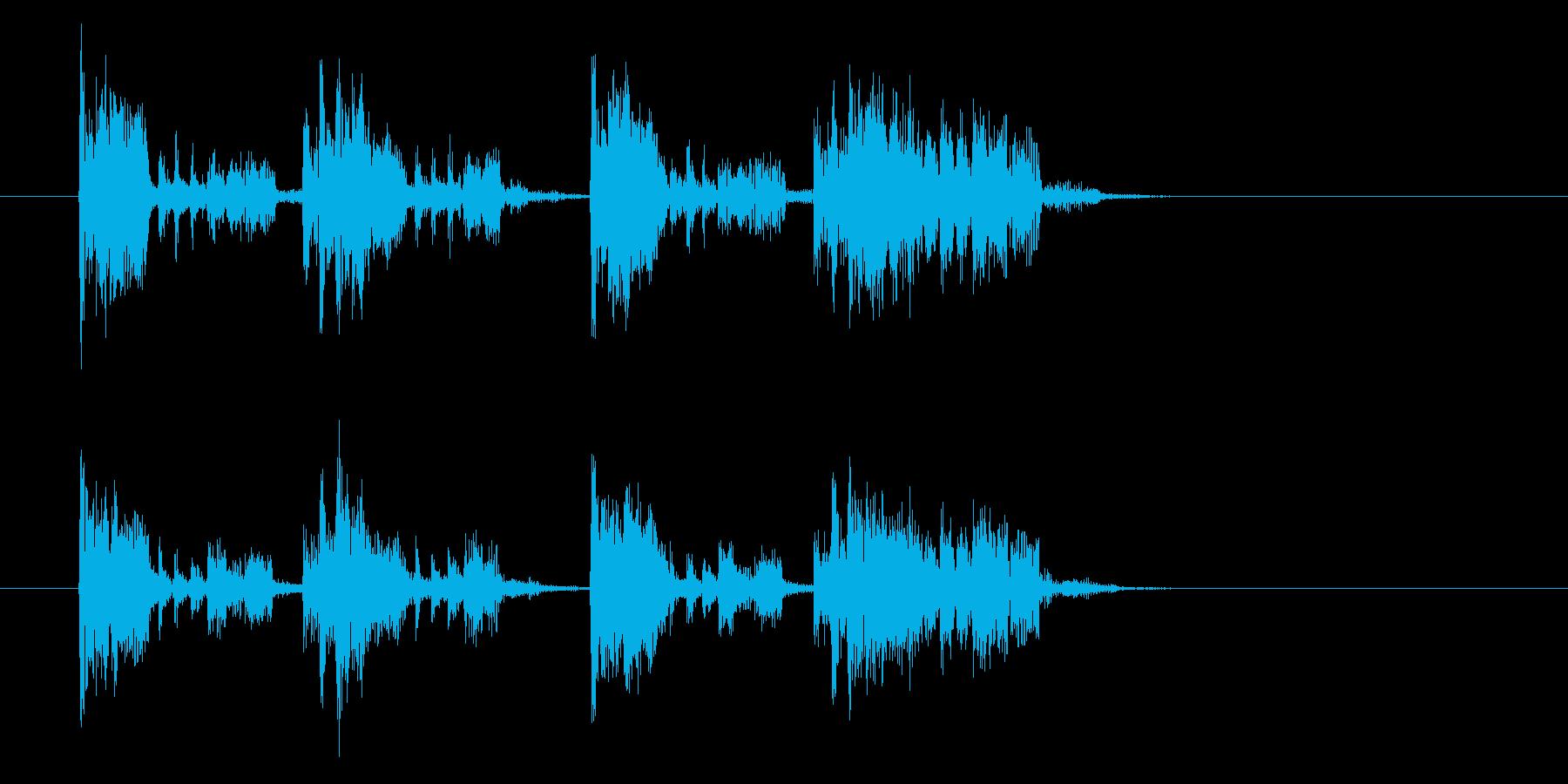 響きのある魅惑的なショートミュージックの再生済みの波形