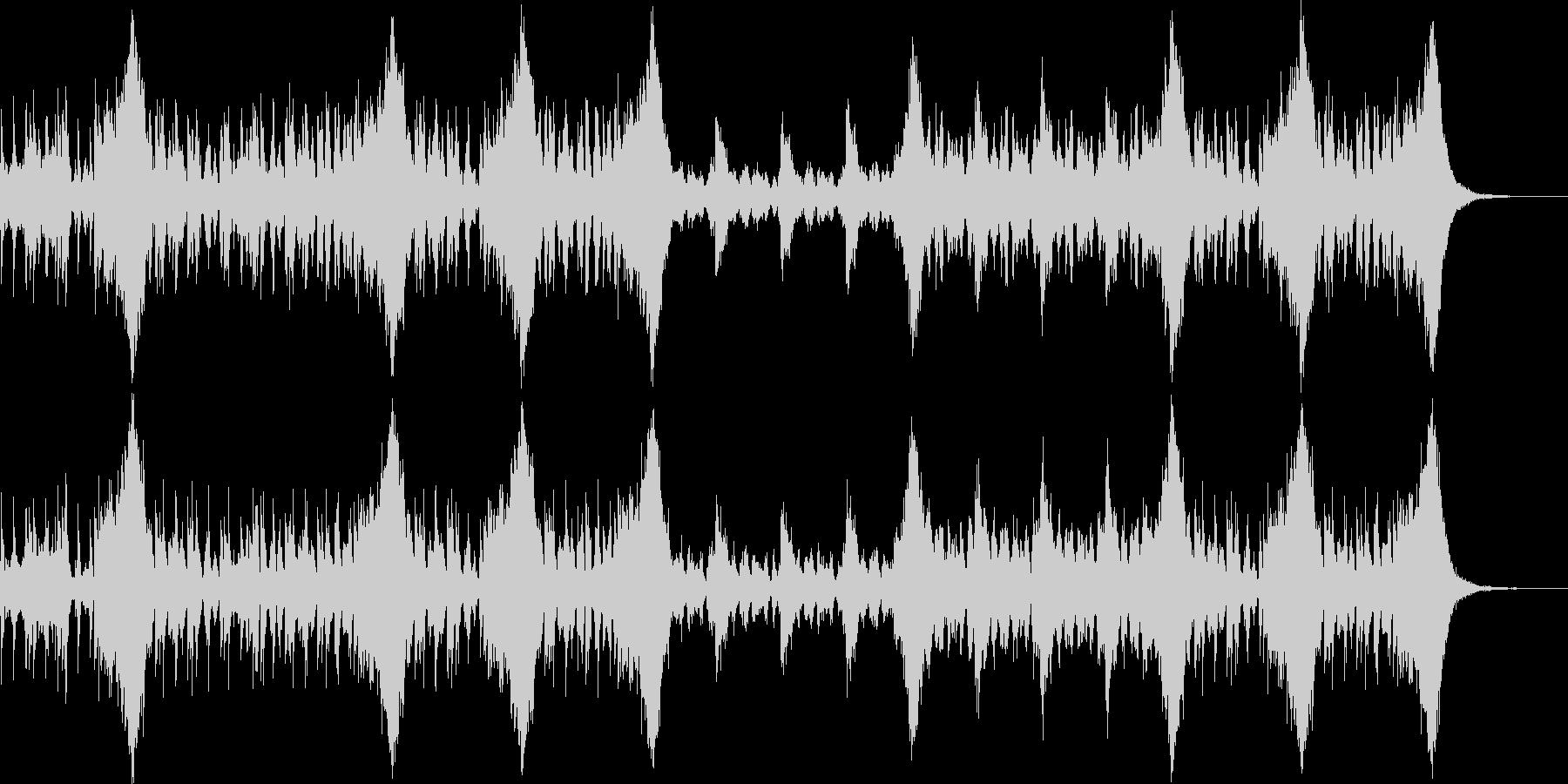 激しいシーン向けのオーケストラ音源の未再生の波形