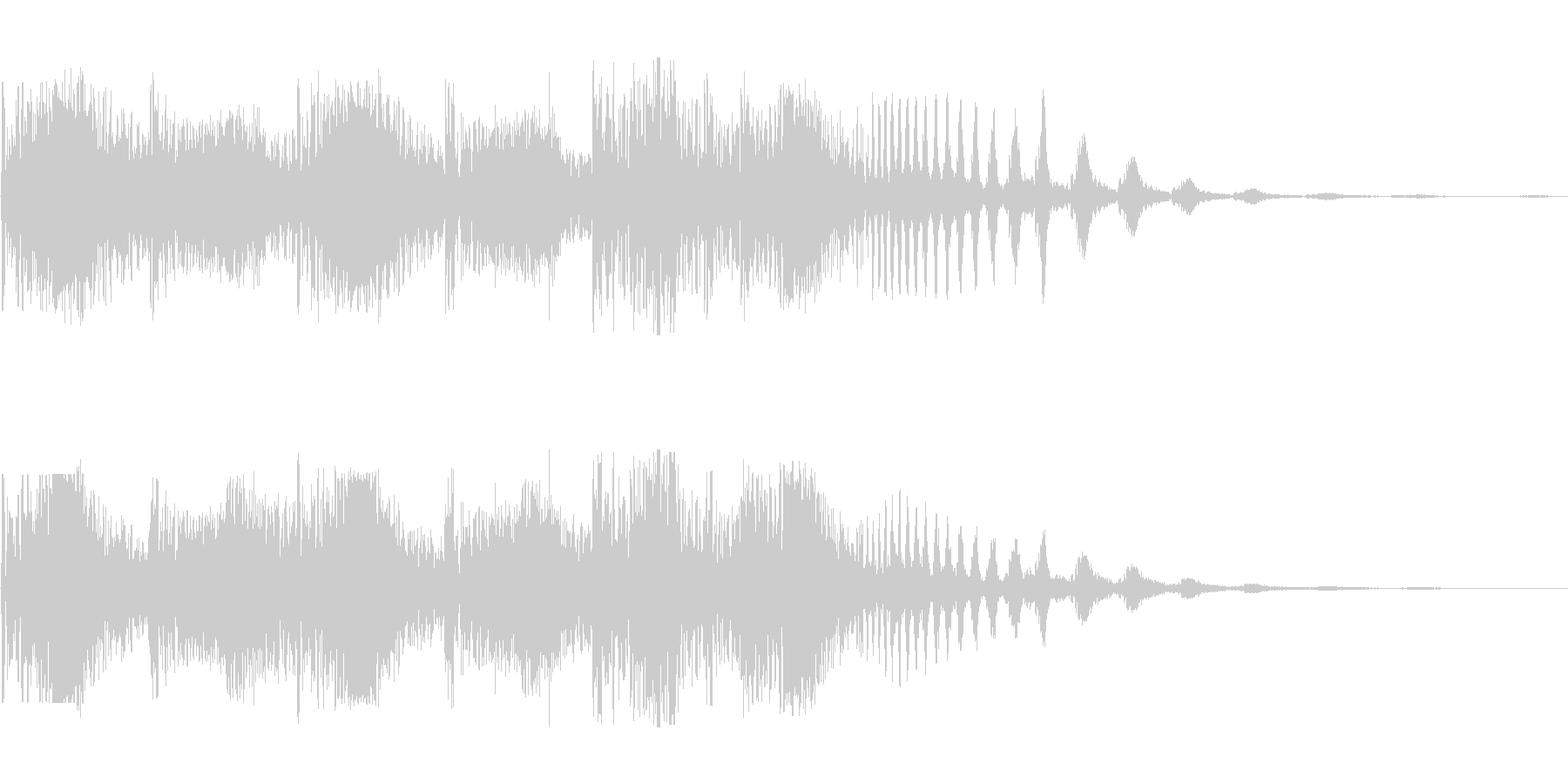 ジリリリ(割れる音 細かくなる音)の未再生の波形