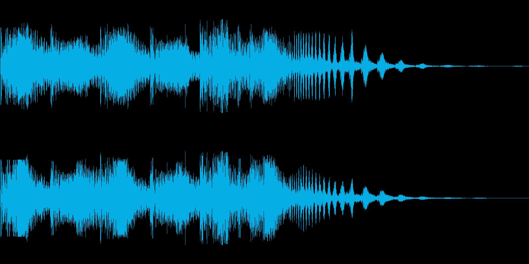 ジリリリ(割れる音 細かくなる音)の再生済みの波形
