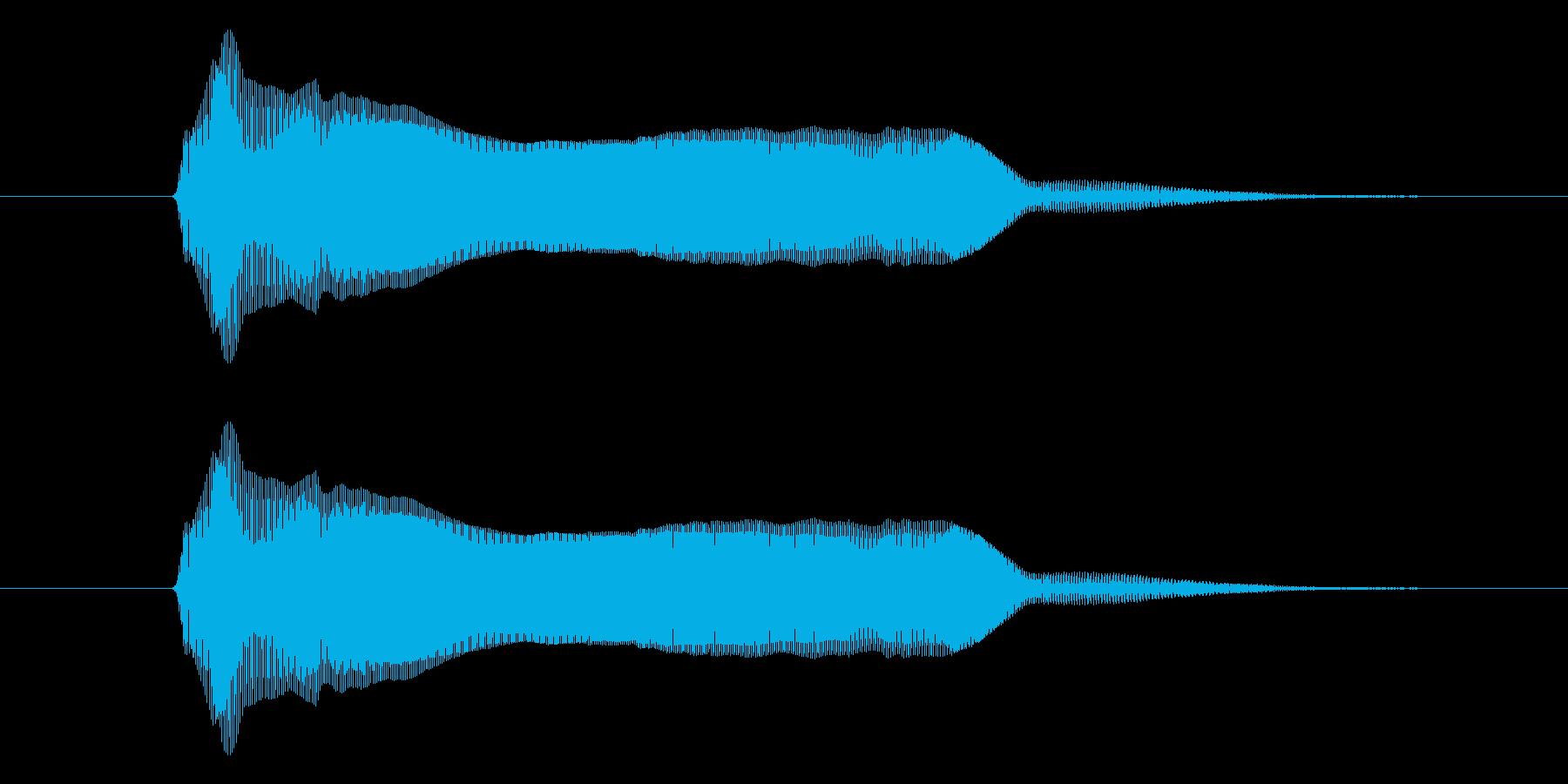 どーん!の再生済みの波形