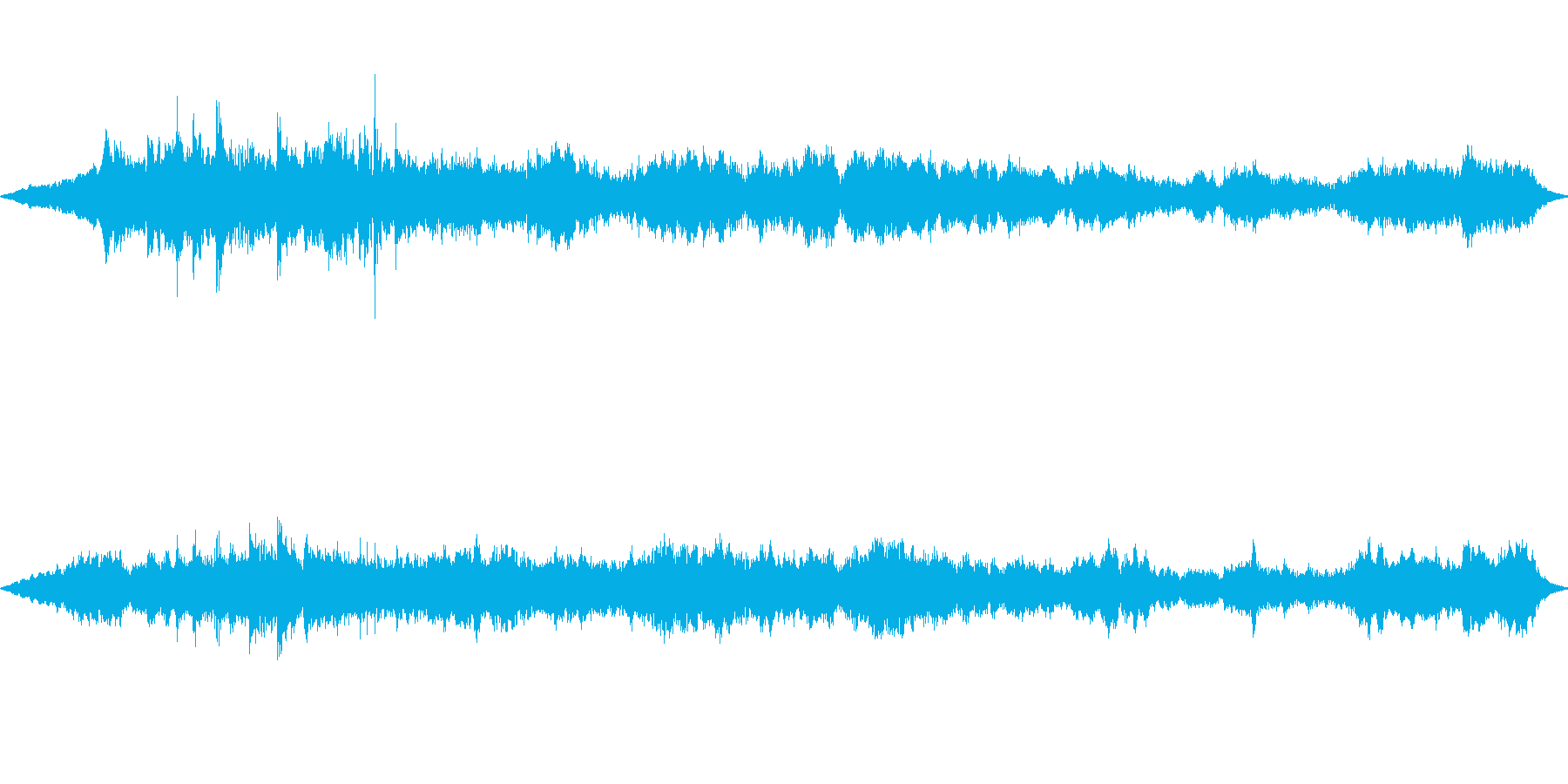 アンビエントの宇宙を感じさせるヒーリングの再生済みの波形
