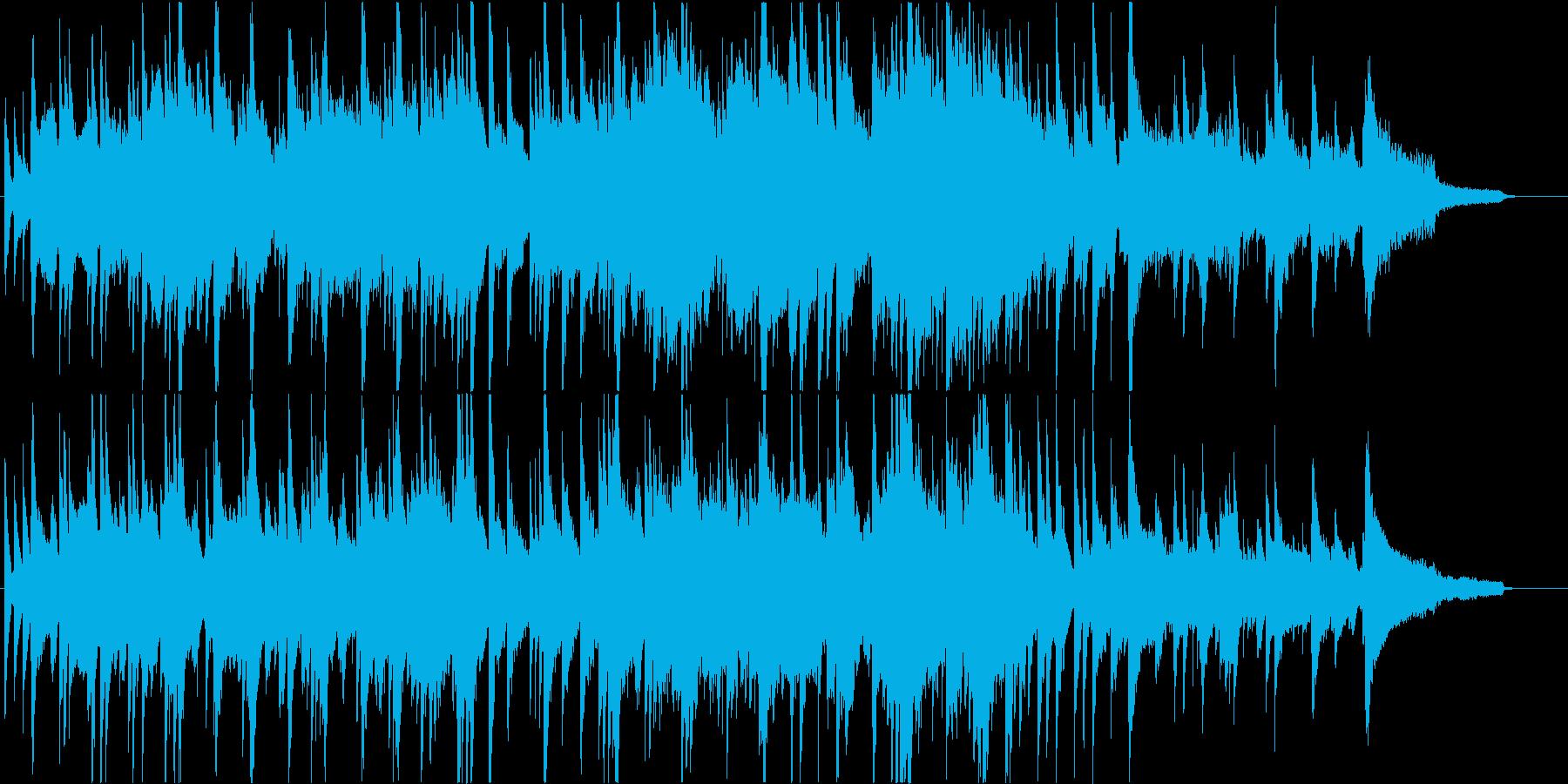 冬にぴったりのピアノ&ヴァイオリン楽曲の再生済みの波形