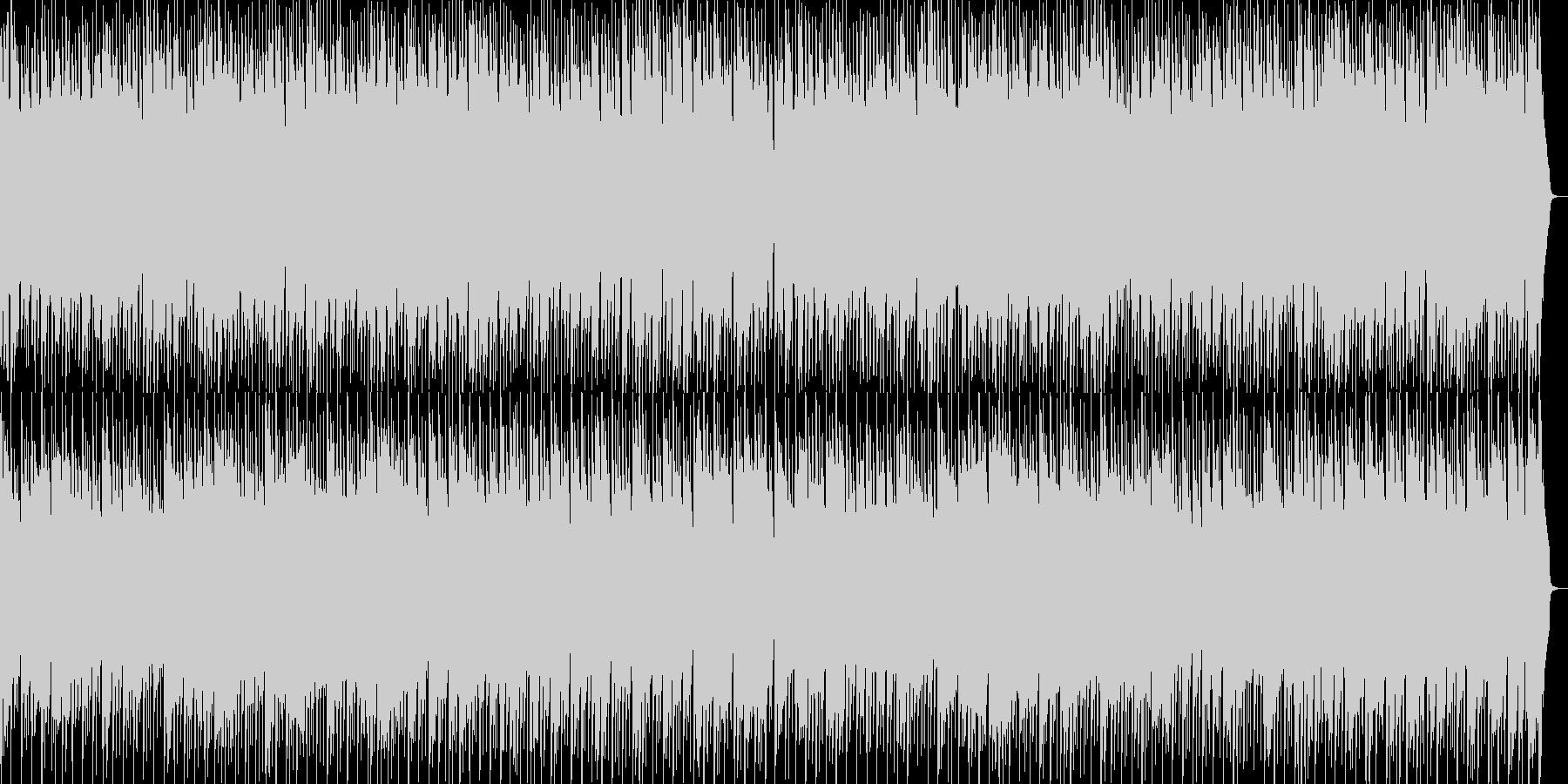 ほのぼのしたかわいいポップワルツの未再生の波形