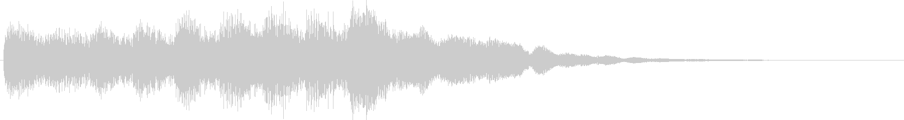 おしらせチャイム(カリヨン)の未再生の波形