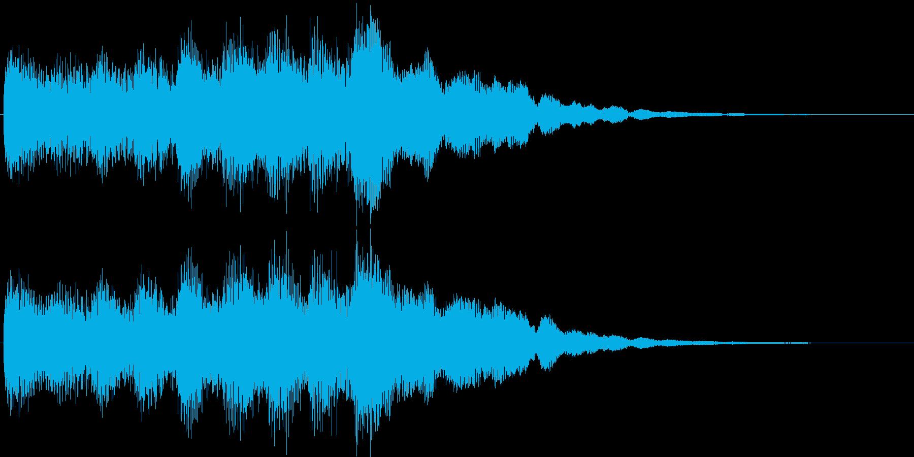 おしらせチャイム(カリヨン)の再生済みの波形