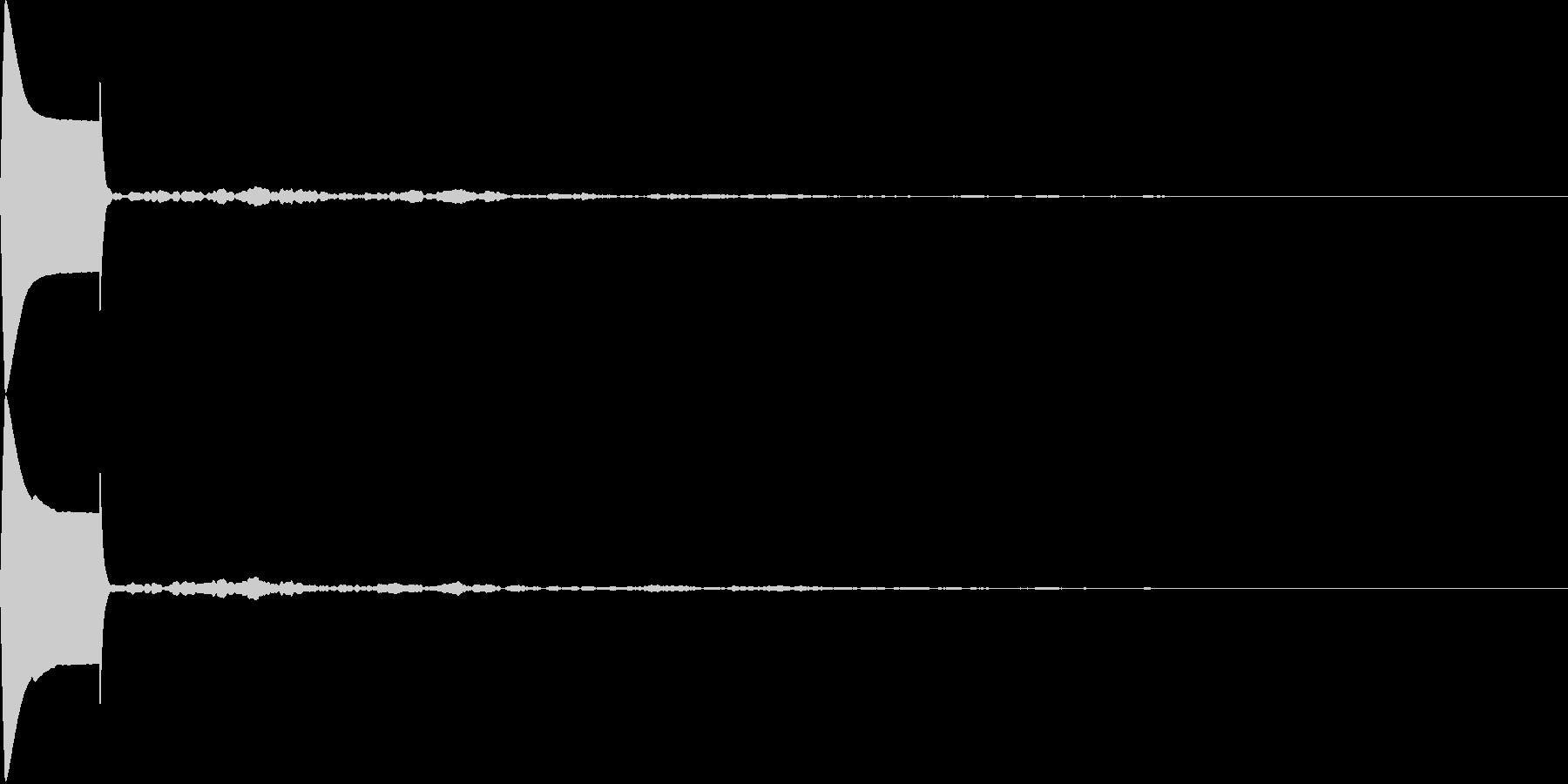 電子音 マウスオーバー時の未再生の波形