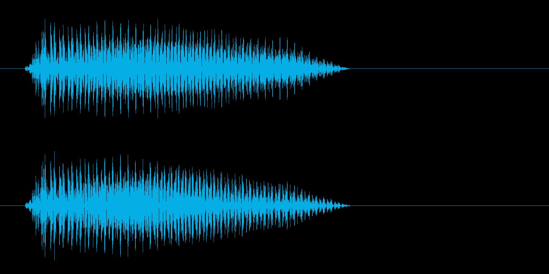 ベッ (短いビープ音)の再生済みの波形