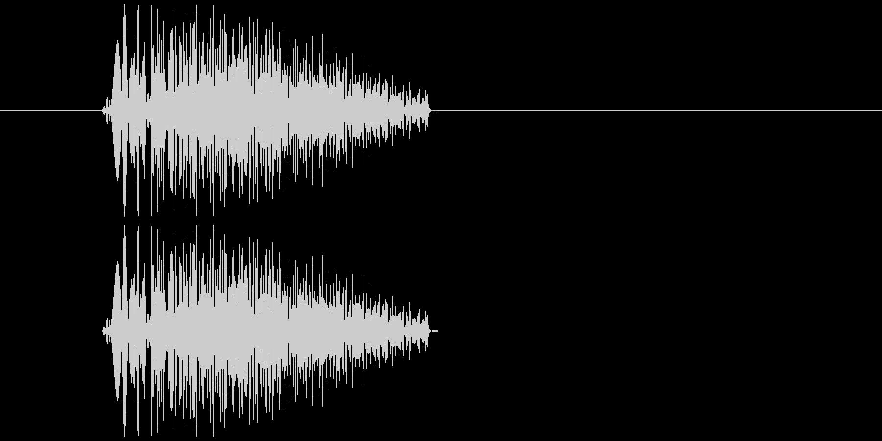 キャンセル、リセットの未再生の波形