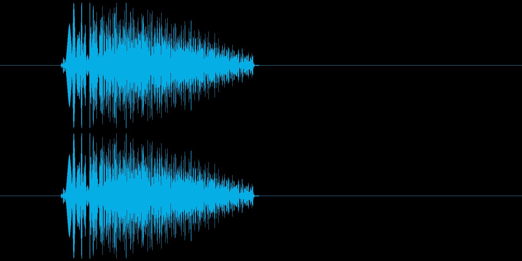 キャンセル、リセットの再生済みの波形