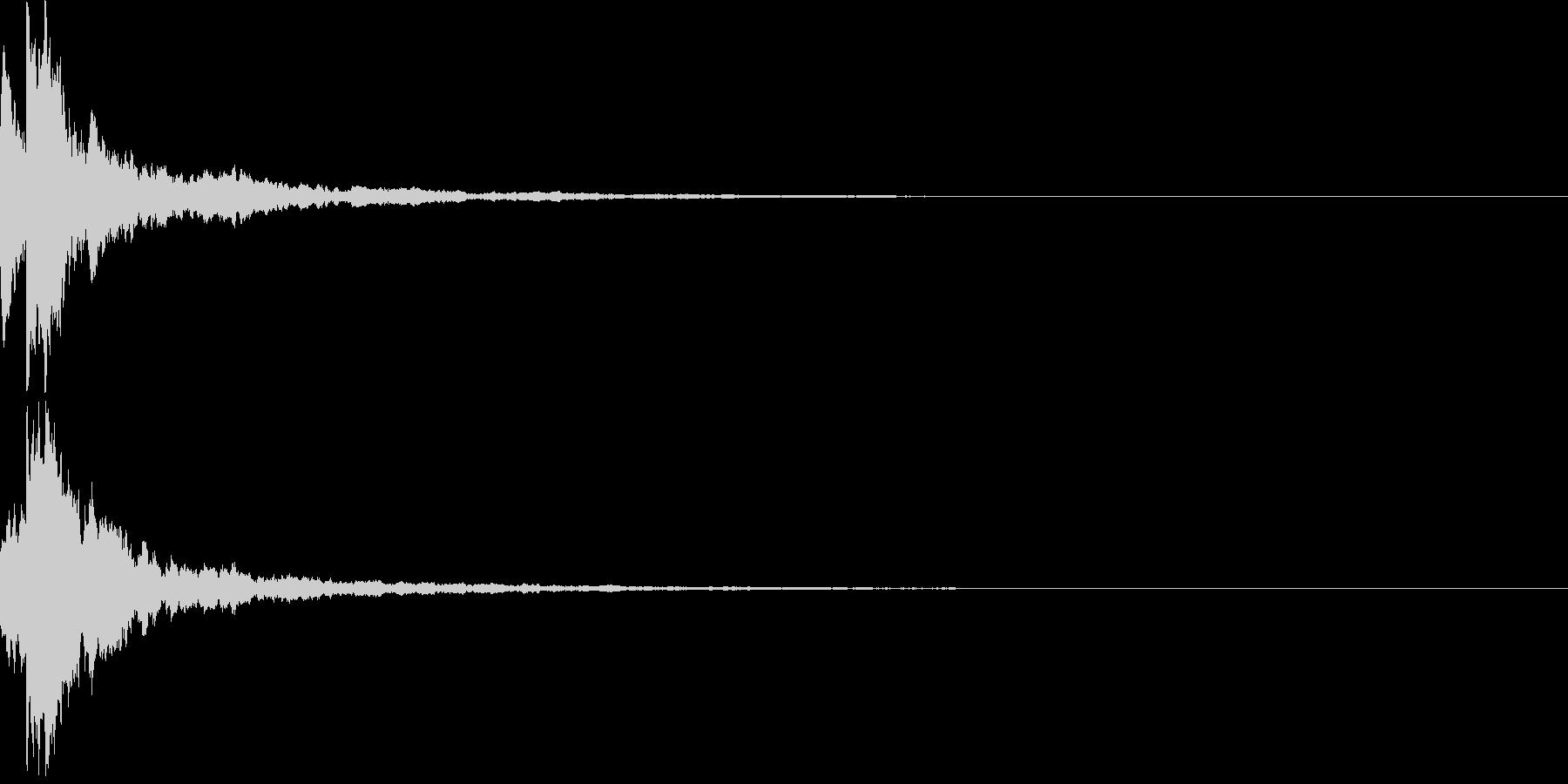 明るいテロップ音 ボタン音 決定音25cの未再生の波形
