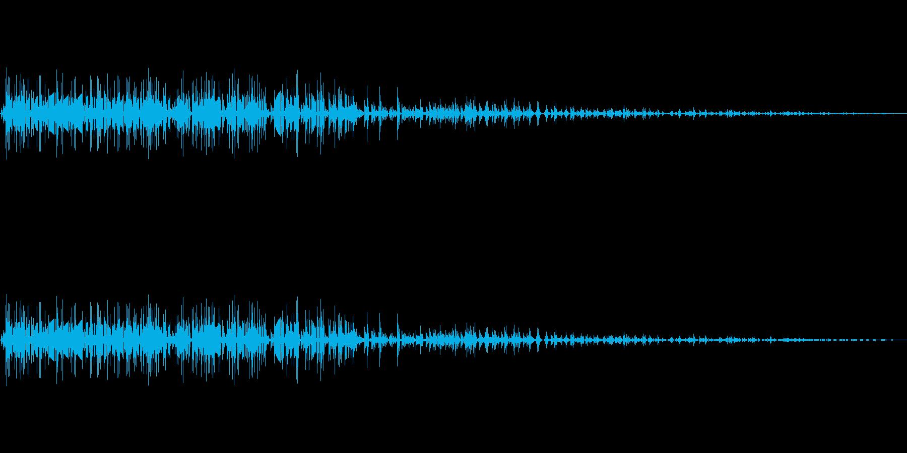 爆発音のイメージです。の再生済みの波形