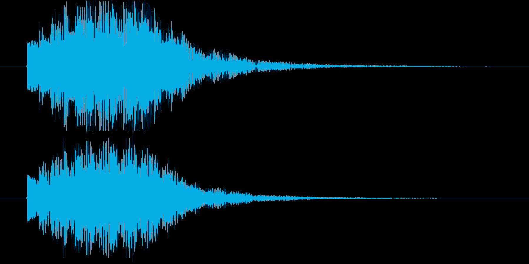 近未来的なステータスアップ効果音の再生済みの波形
