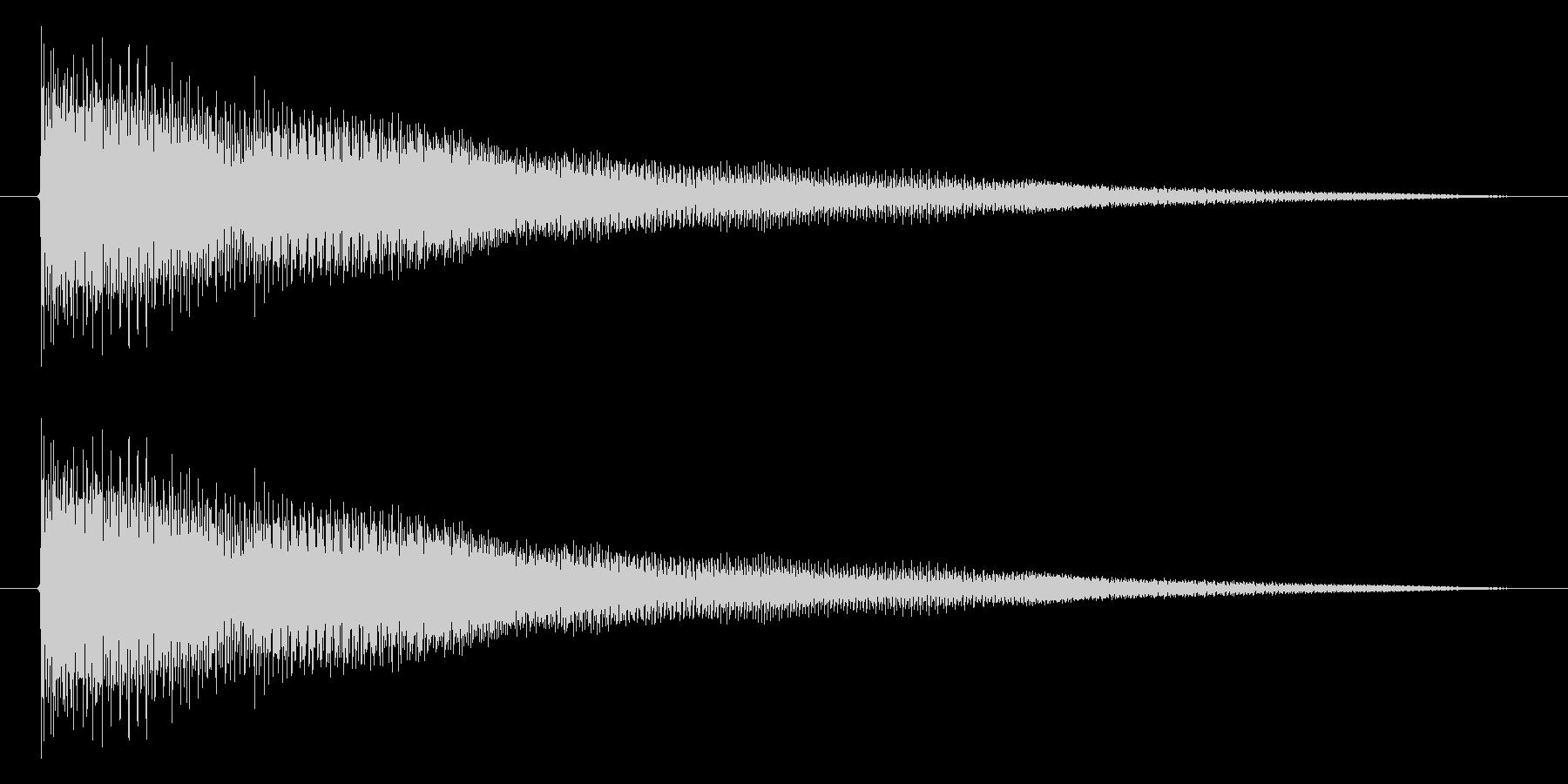 トウィウィウィ~ンの未再生の波形