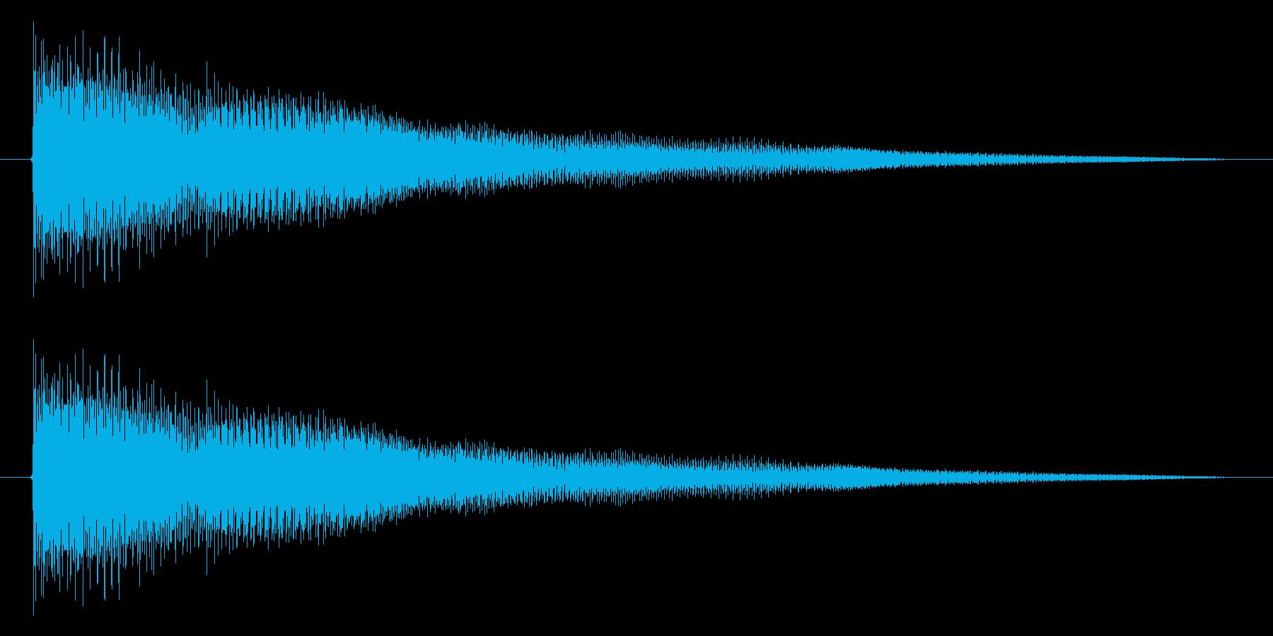 トウィウィウィ~ンの再生済みの波形
