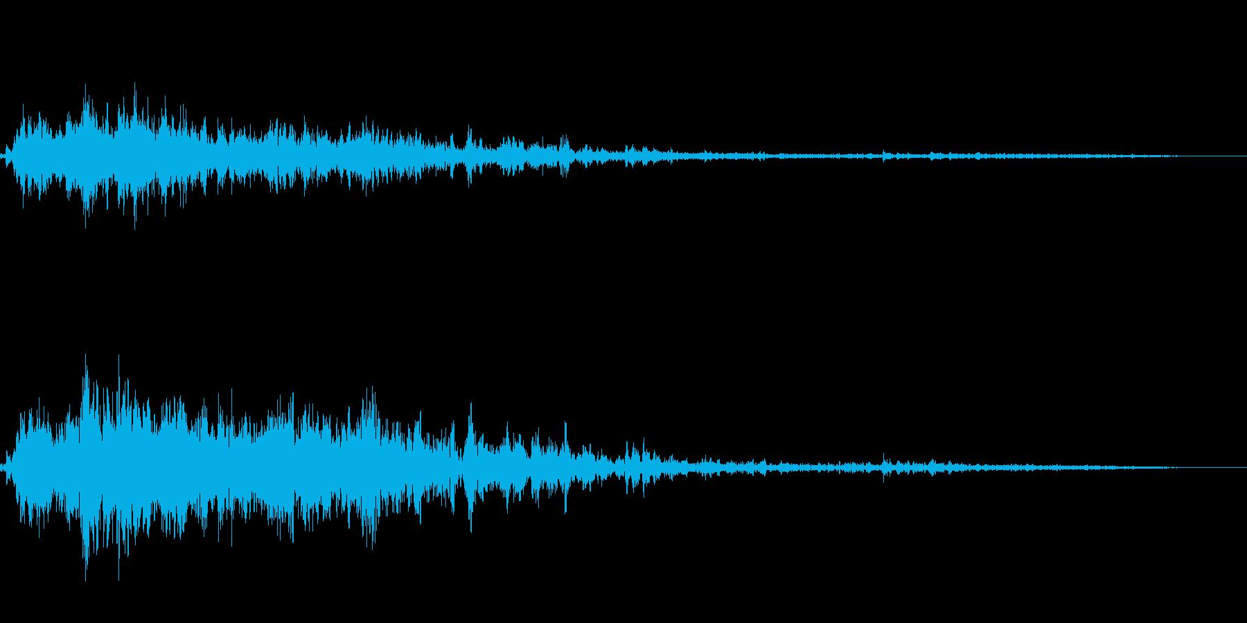 ゴロゴロゴロ(雷の音)の再生済みの波形