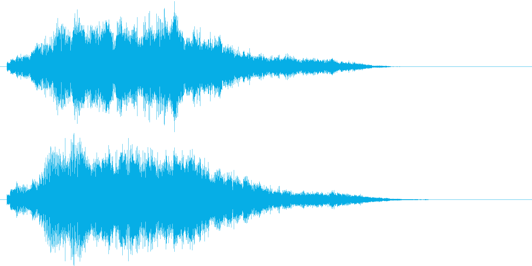 ピアノの旋律を加工したサウンドロゴの再生済みの波形