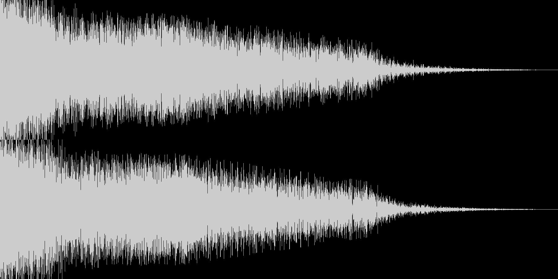 ドーンという音の後に衝撃波のようなものの未再生の波形