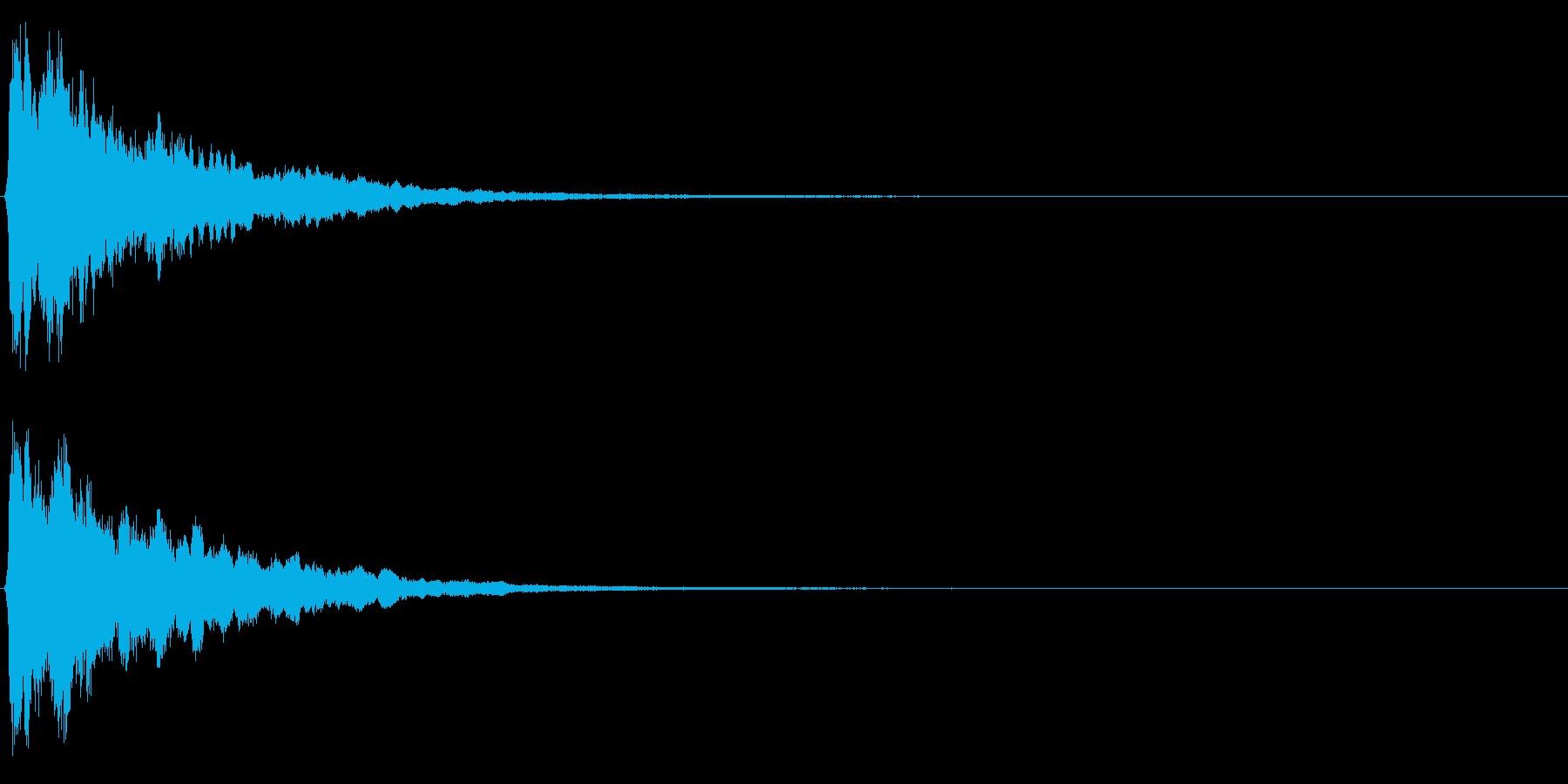 ゲームスタート、決定、ボタン音-072の再生済みの波形
