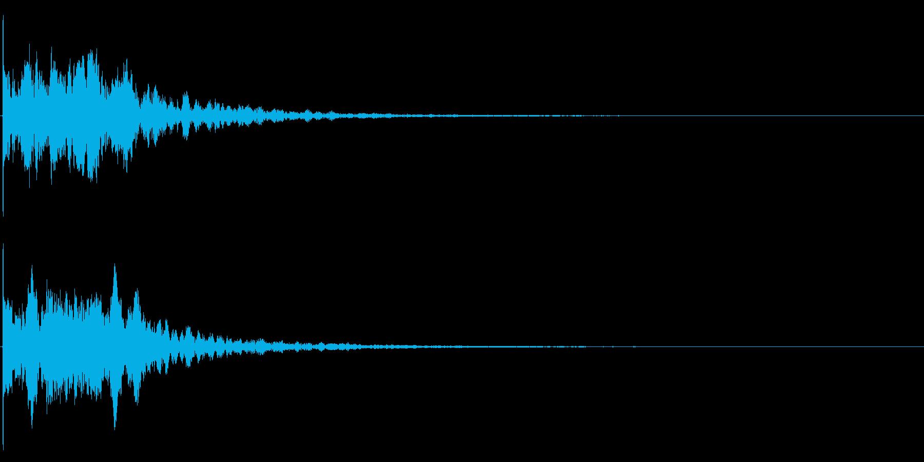 ゲームスタート、決定、ボタン音-158の再生済みの波形