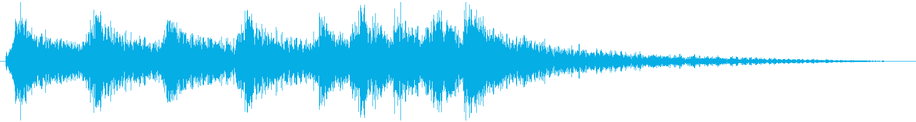 シンプルなコミカルジングルの再生済みの波形
