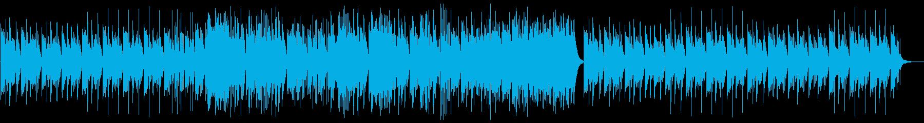 ピアノによる落ち着きのあるバラードの再生済みの波形