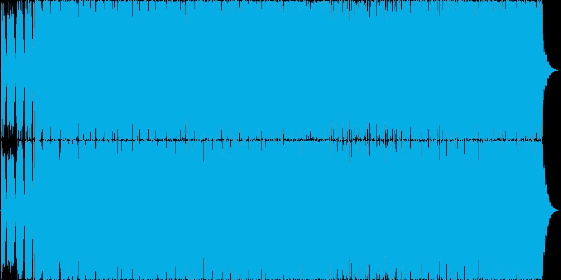 低音の強いダークなヘビィロックの再生済みの波形
