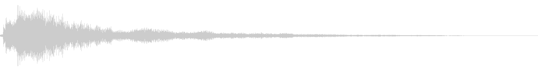 シンプルな決定/ボタン/クリック音34cの未再生の波形