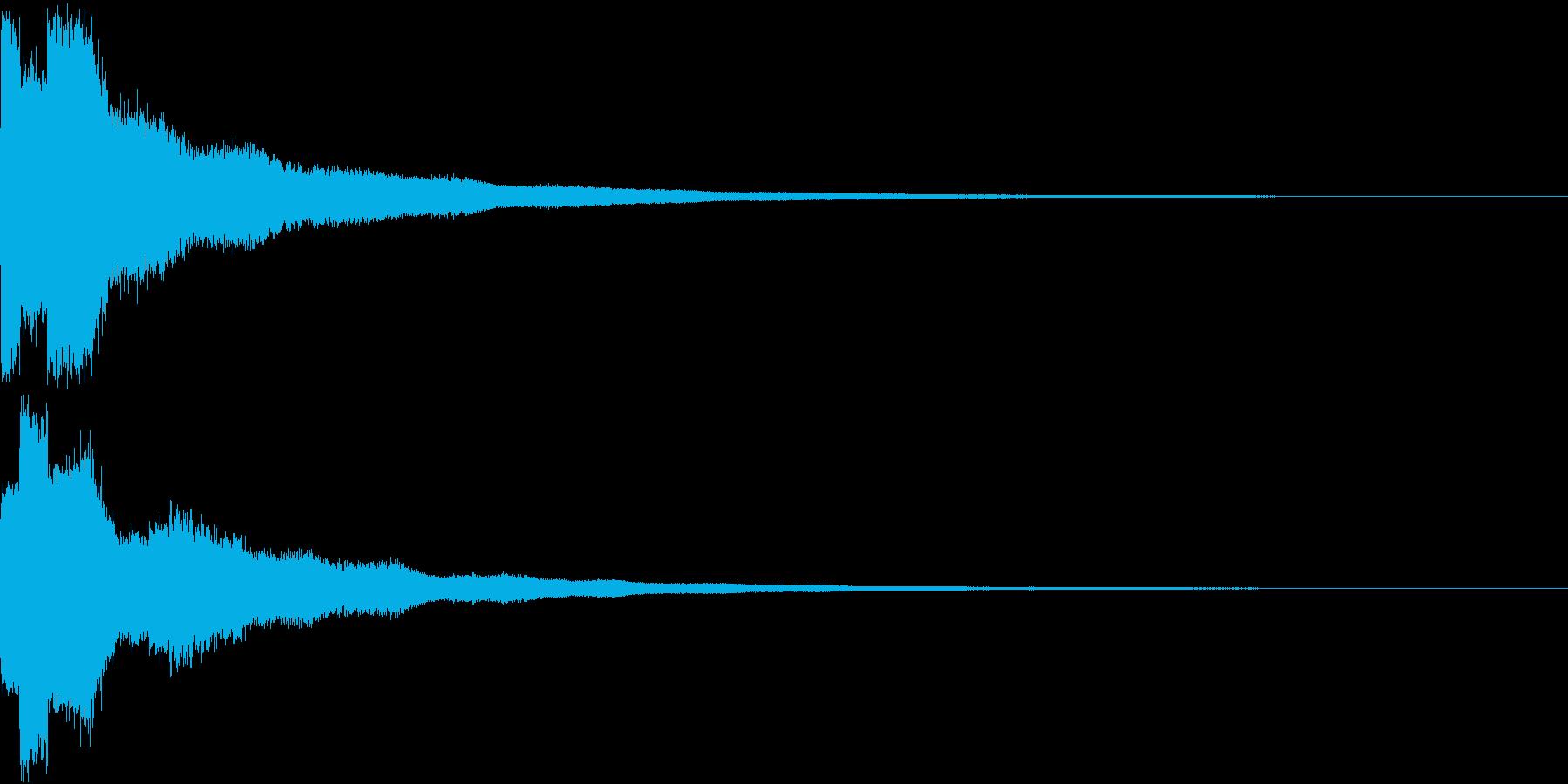 クリック キラリン 明るい 決定 03の再生済みの波形