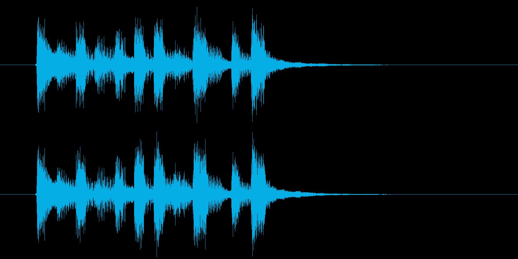 おしゃれでワクワクシンセサウンドの再生済みの波形
