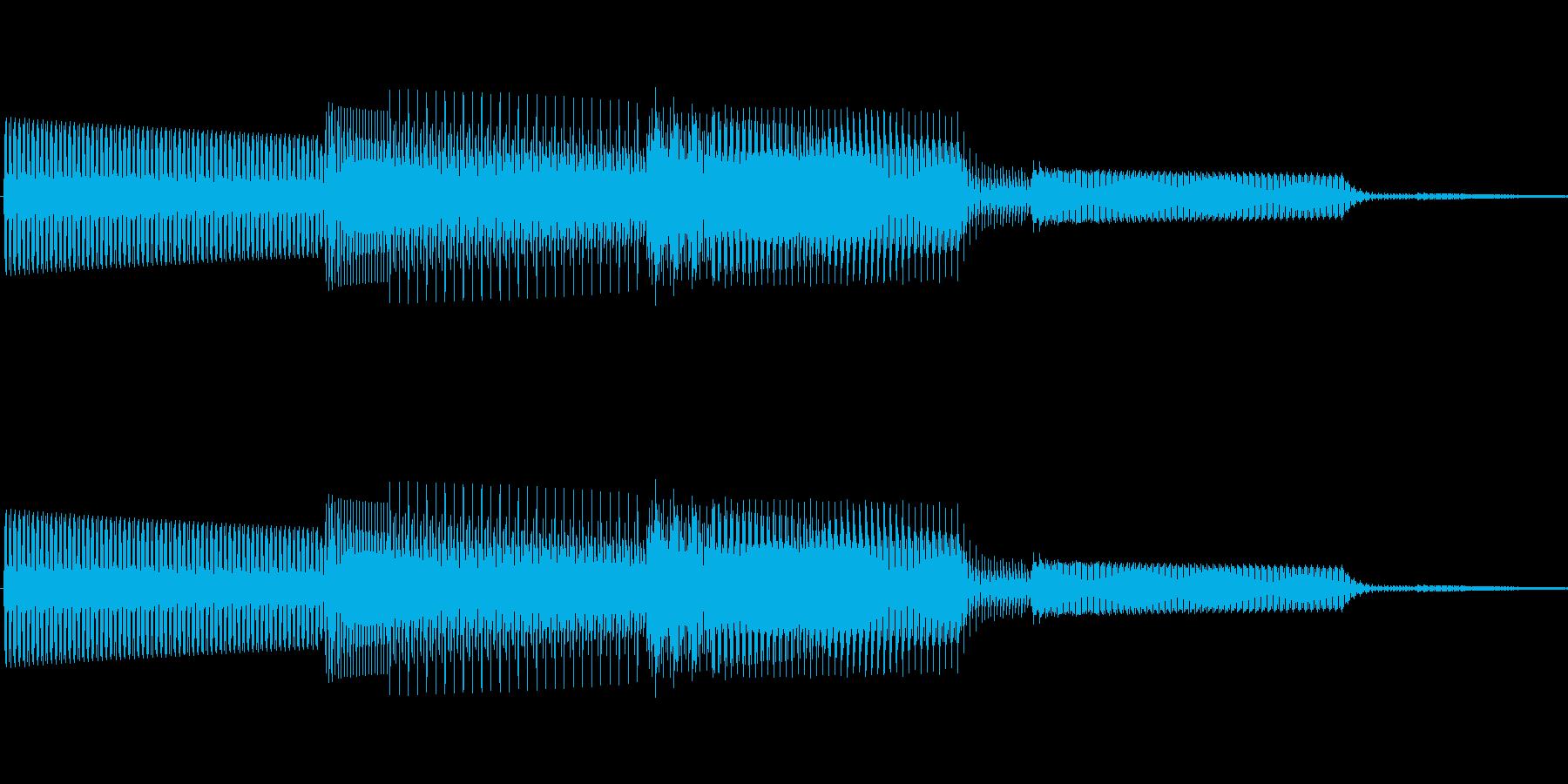 ボタン決定音システム選択タッチ登録B12の再生済みの波形