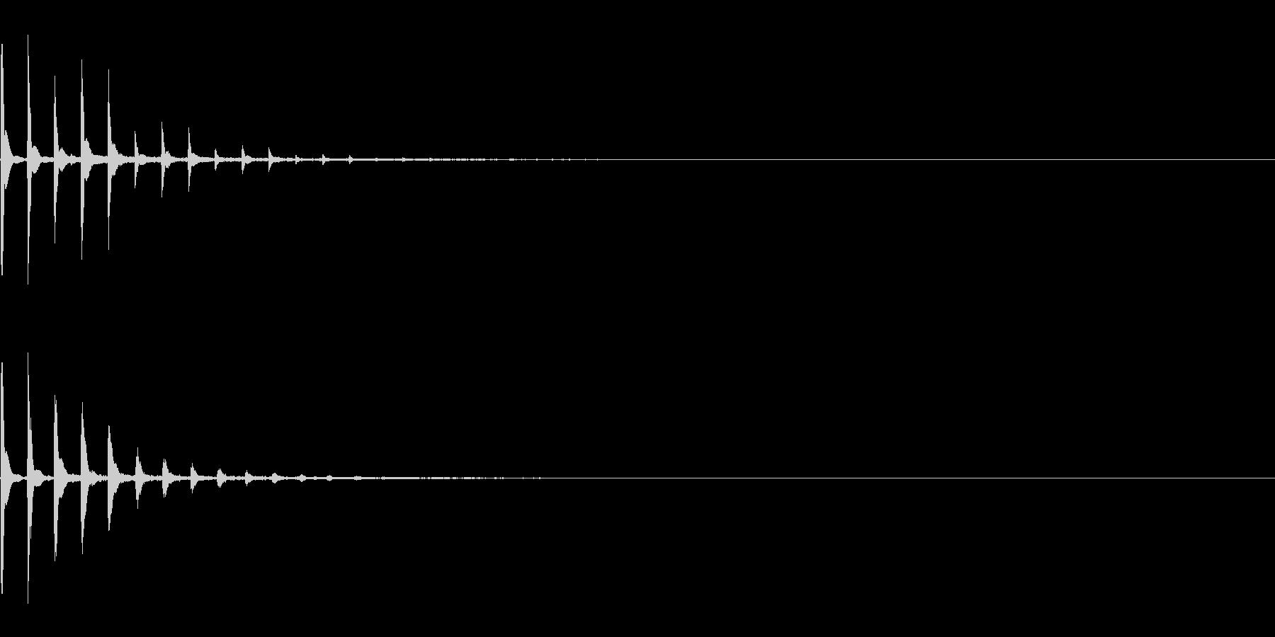 めくる 注釈 決定 ピコン 次へ の未再生の波形