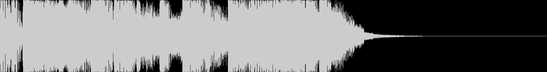 コミカルなアタックの未再生の波形