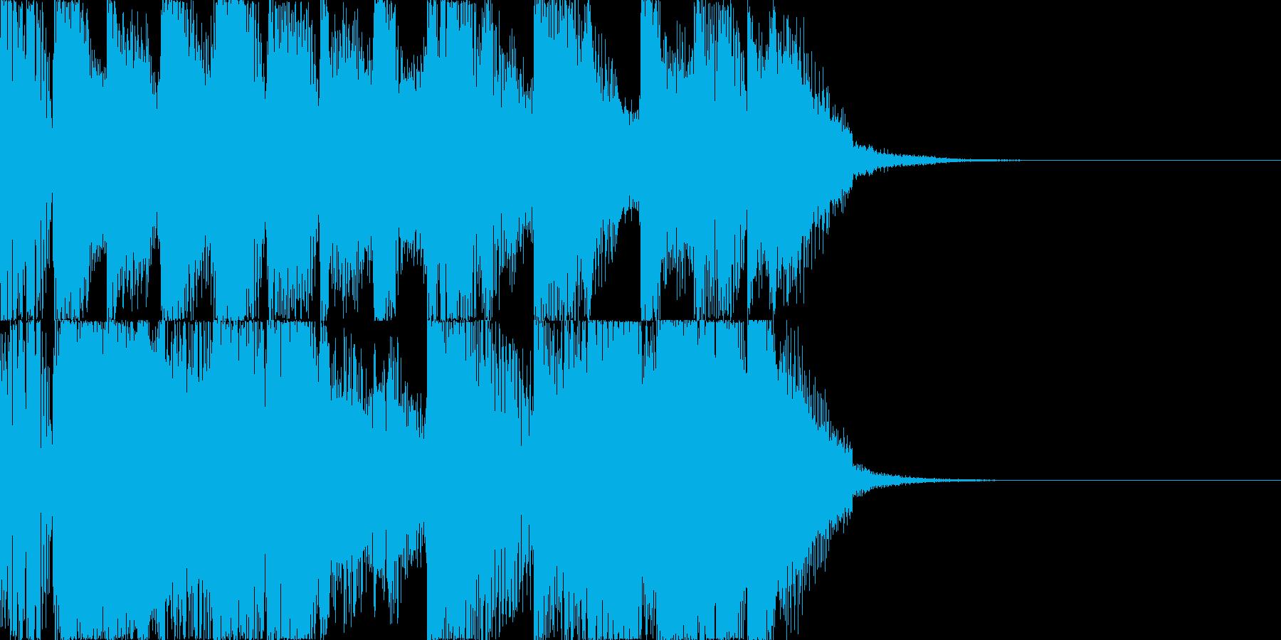 コミカルなアタックの再生済みの波形