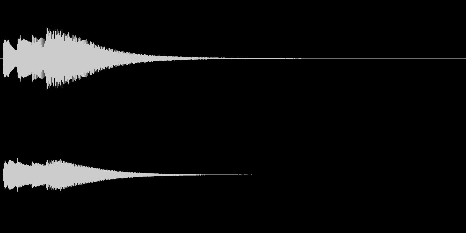 (チェレスタ)キラキラーンという綺麗な…の未再生の波形