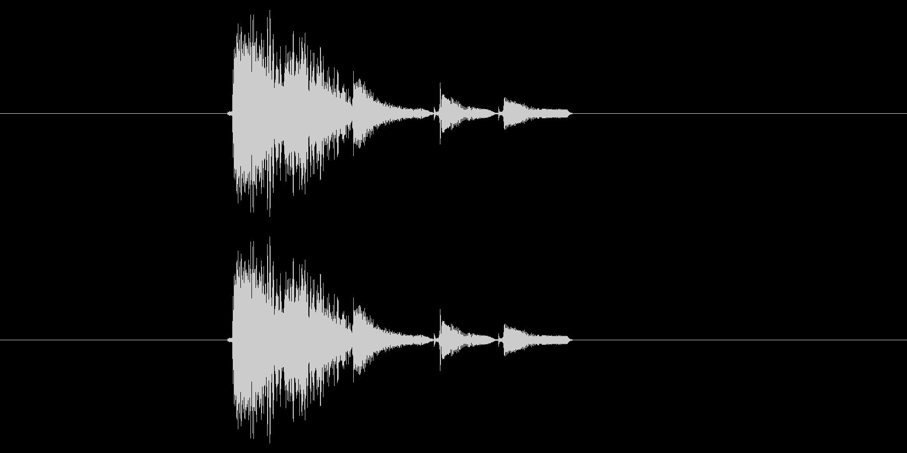 激しいポップス系短め音(番組、ジングル)の未再生の波形