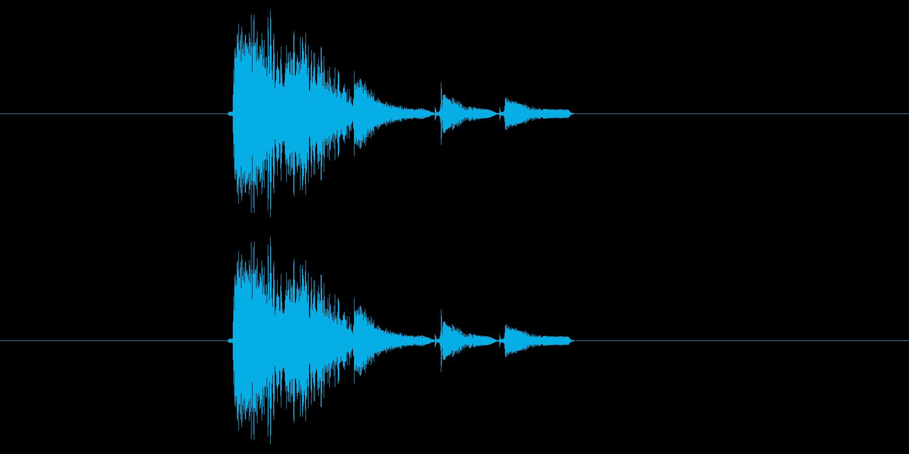 激しいポップス系短め音(番組、ジングル)の再生済みの波形