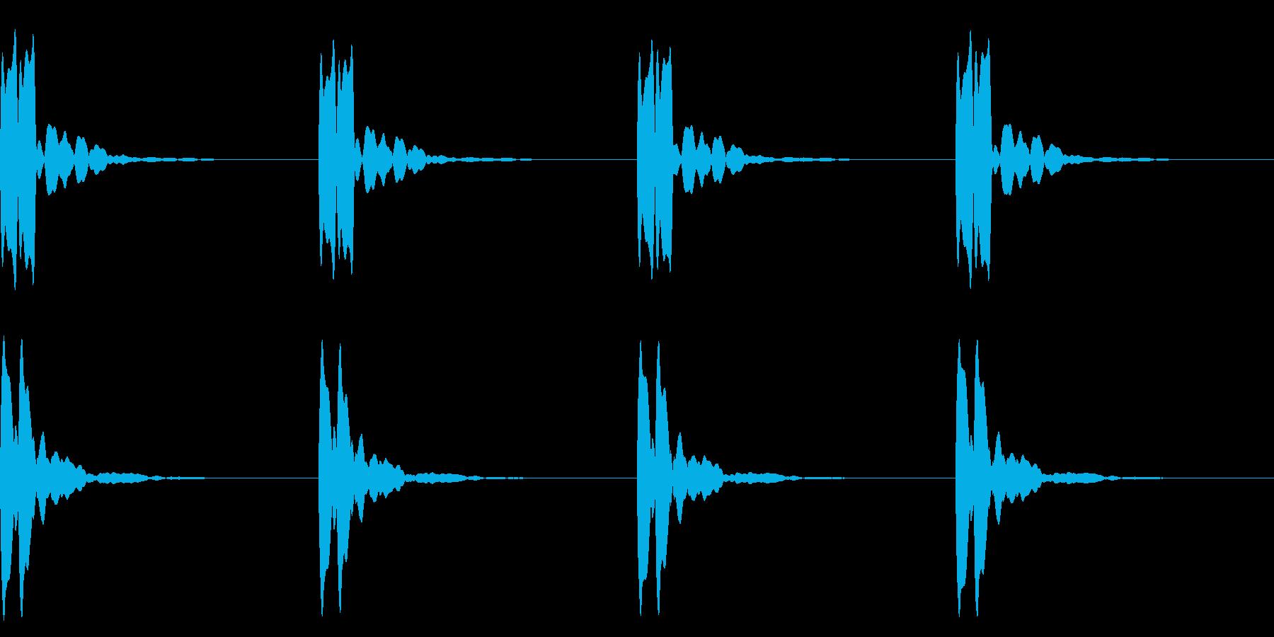 横断歩道 誘導音03-3(ループ) の再生済みの波形