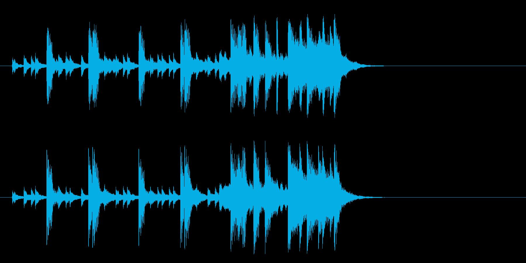 のんびりした童謡風ポップ(イントロ)の再生済みの波形