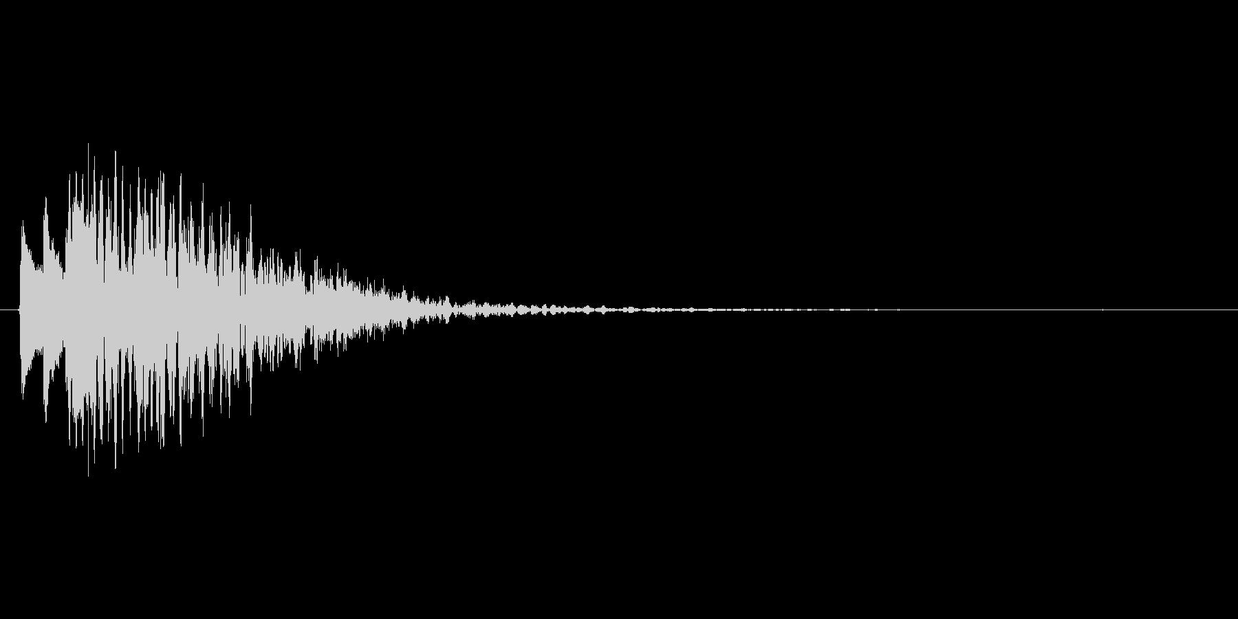動画の場面転換向けの効果音(低め、下降)の未再生の波形