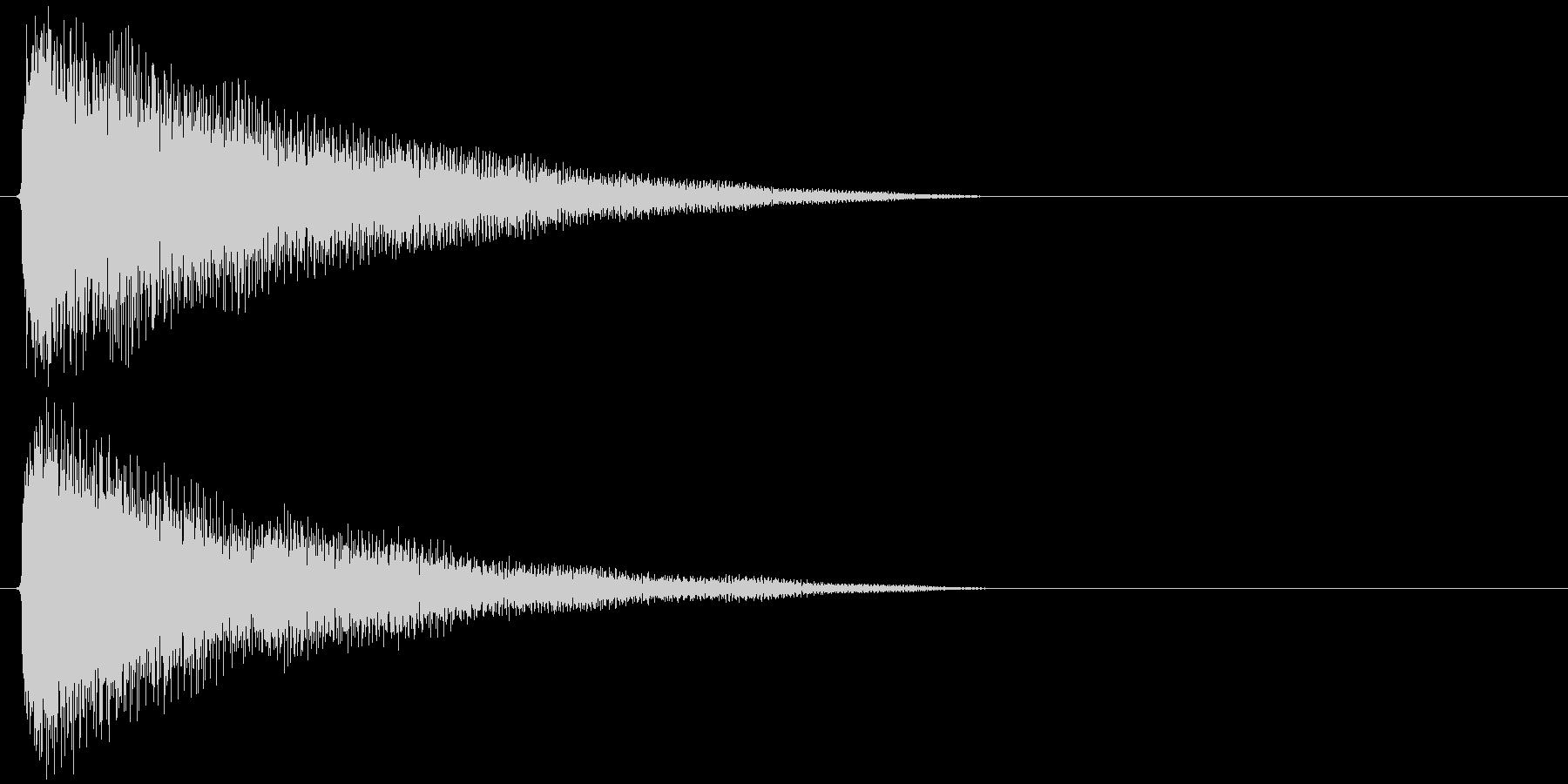 チャーン(ゲーム中でアイテムに触れたり…の未再生の波形