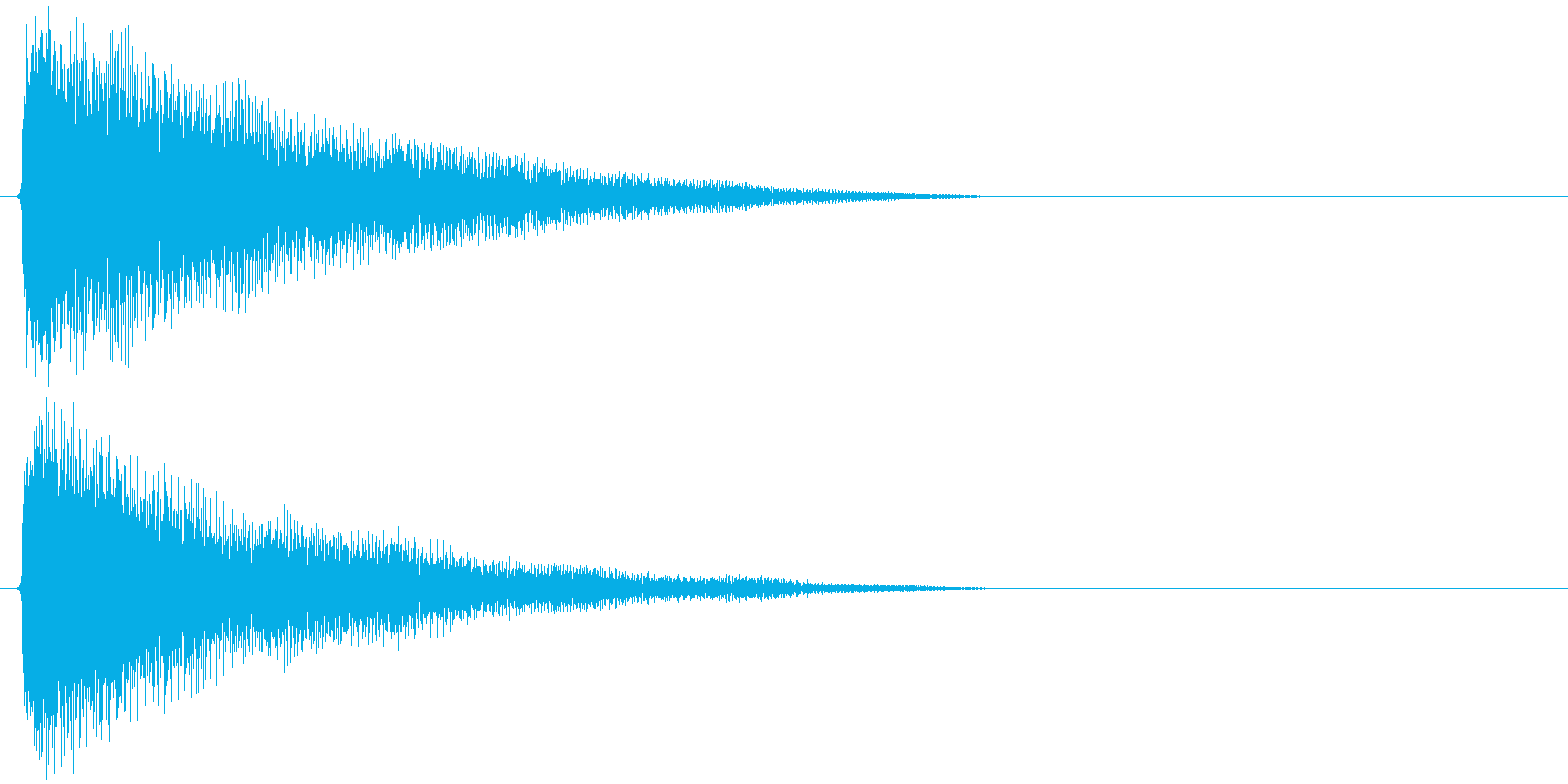 チャーン(ゲーム中でアイテムに触れたり…の再生済みの波形