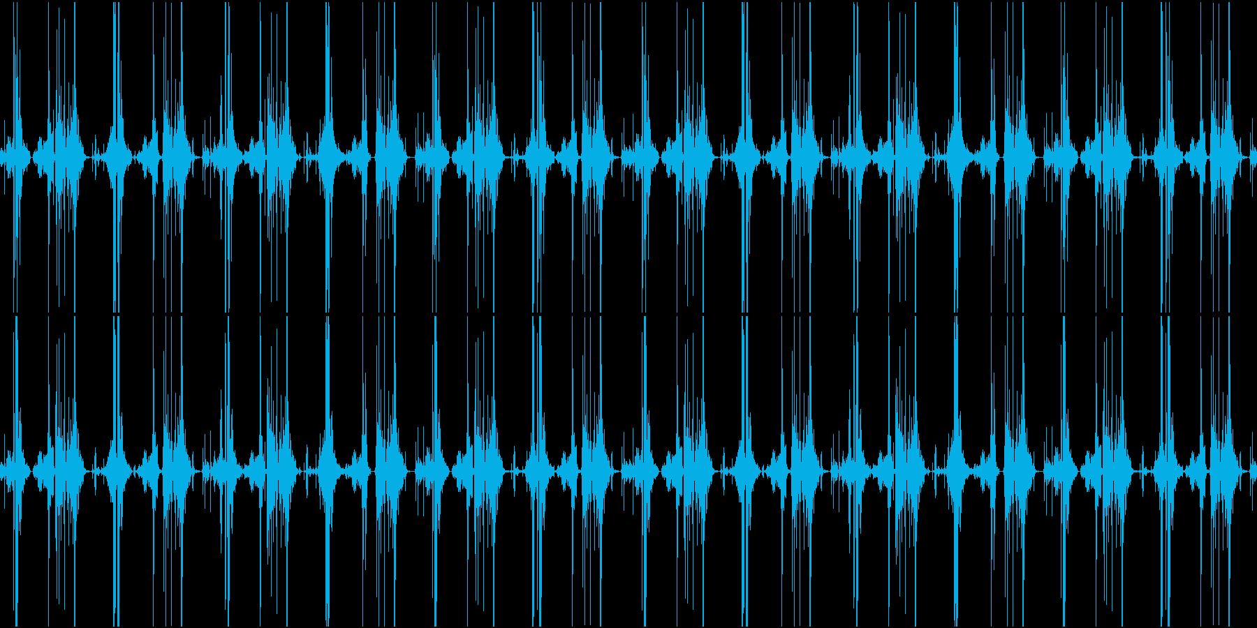 ファンタジー作品向けヘンテコ機械稼働音の再生済みの波形