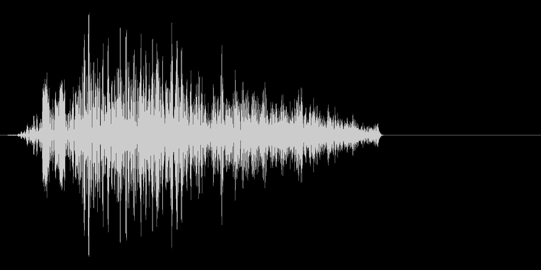 重力系の魔法をイメージした効果音ですの未再生の波形