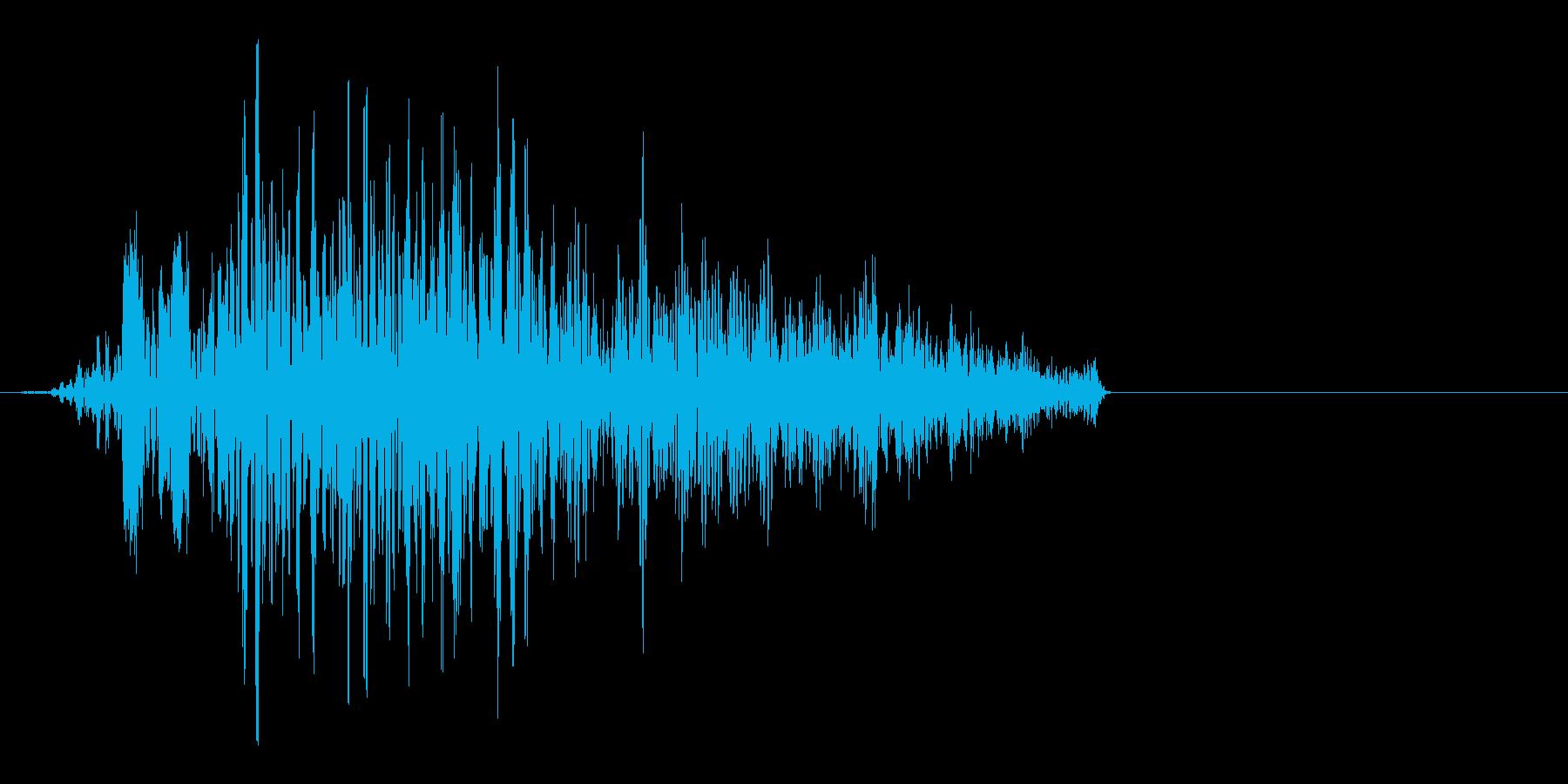 重力系の魔法をイメージした効果音ですの再生済みの波形