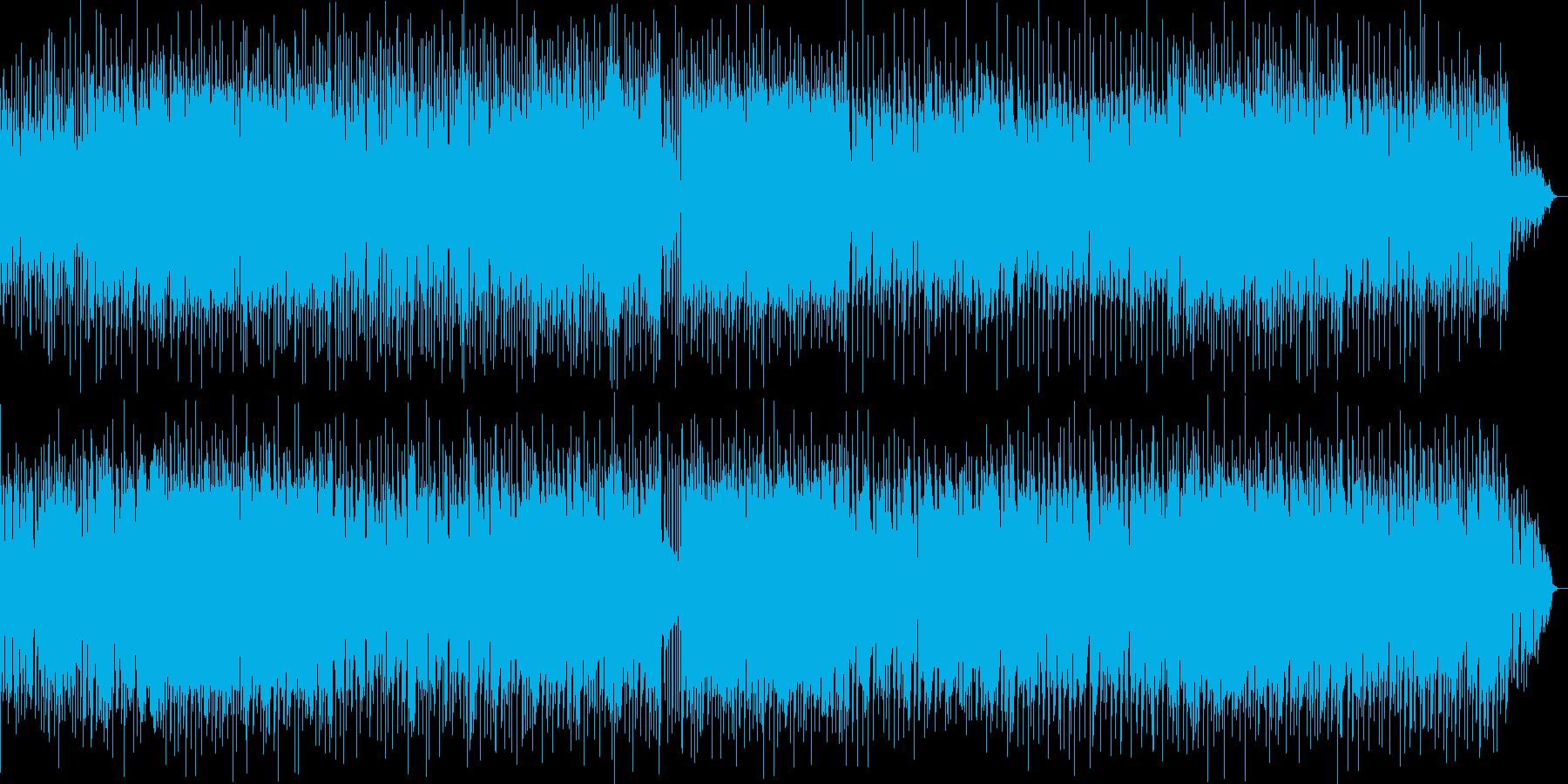 明るく爽やかな弾けた感じの曲の再生済みの波形